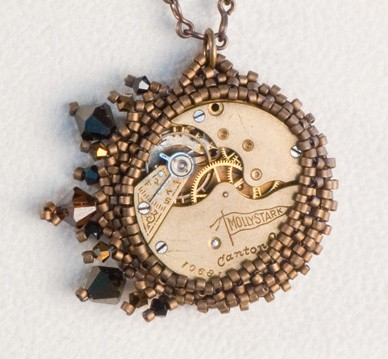 Necklace pocket watch clockwork