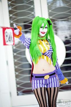 Sexy female joker costume