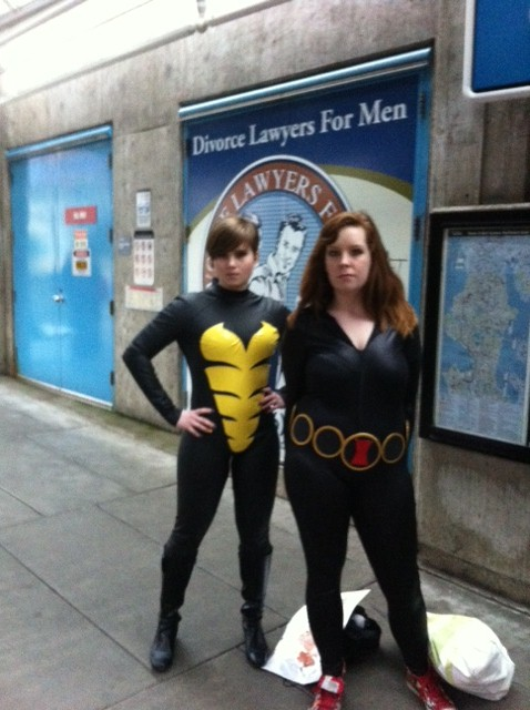 Black Widow and someone that I'm going to feel really stupid for not remembering, aren't I?