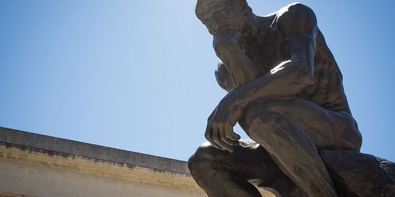 Rodin's The Thinker - photo by Drflet
